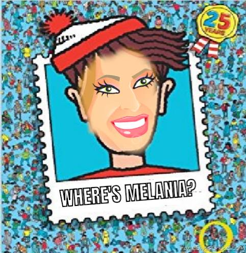 WHERE'S MELANIA?