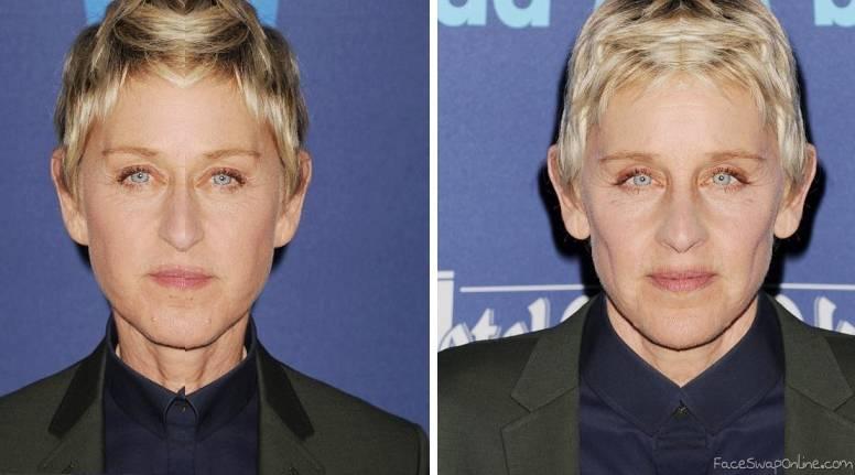 2 half faces of Ellen