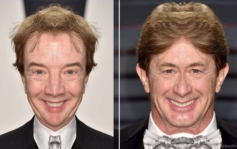 2 halves of Martin Short