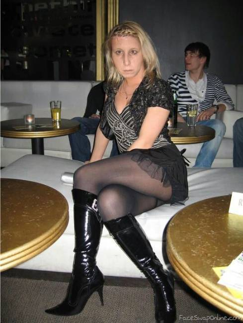 Blonde in Pantyhose