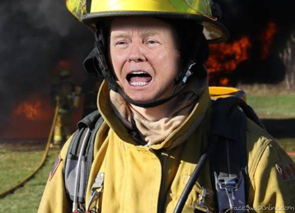 Firefighter Trump