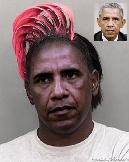 Obama mug shot