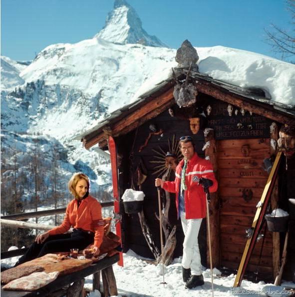 Meredith Apres ski - slim aarons style
