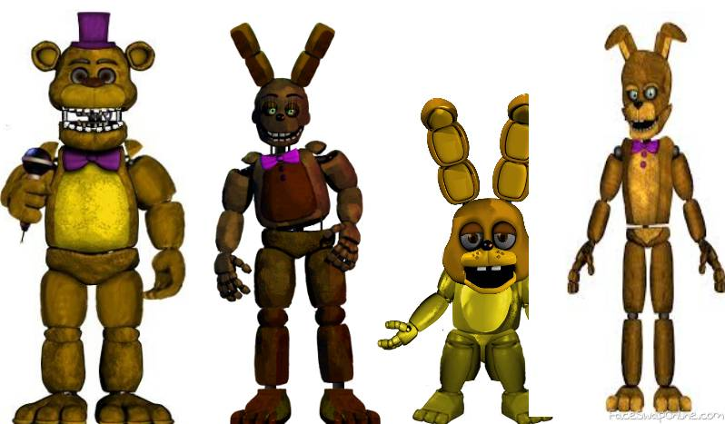 fnaf 4 mingame fredbear and spring bonnie