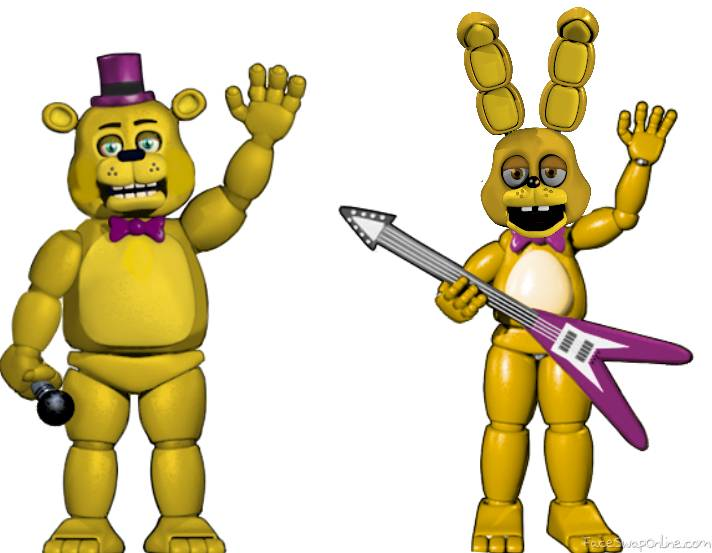 prototype Fred bear and spring bonnie