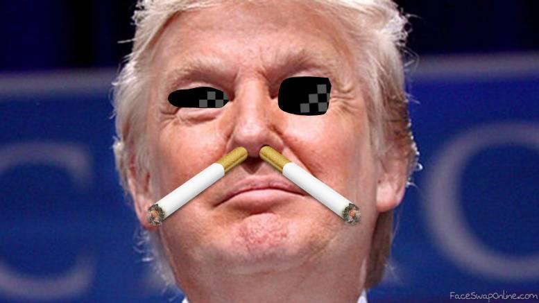 trump snorts them cigarettes