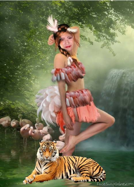 jenny and her tiger