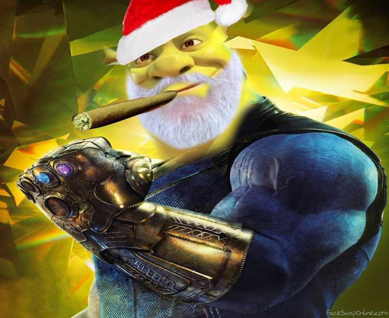 when thanos smoke a joint he turns green