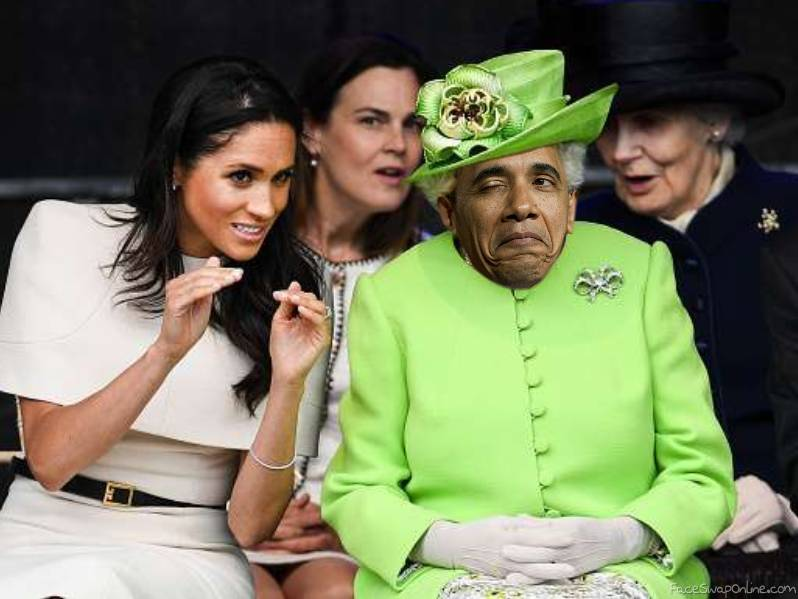 Meghan with Queen Obama