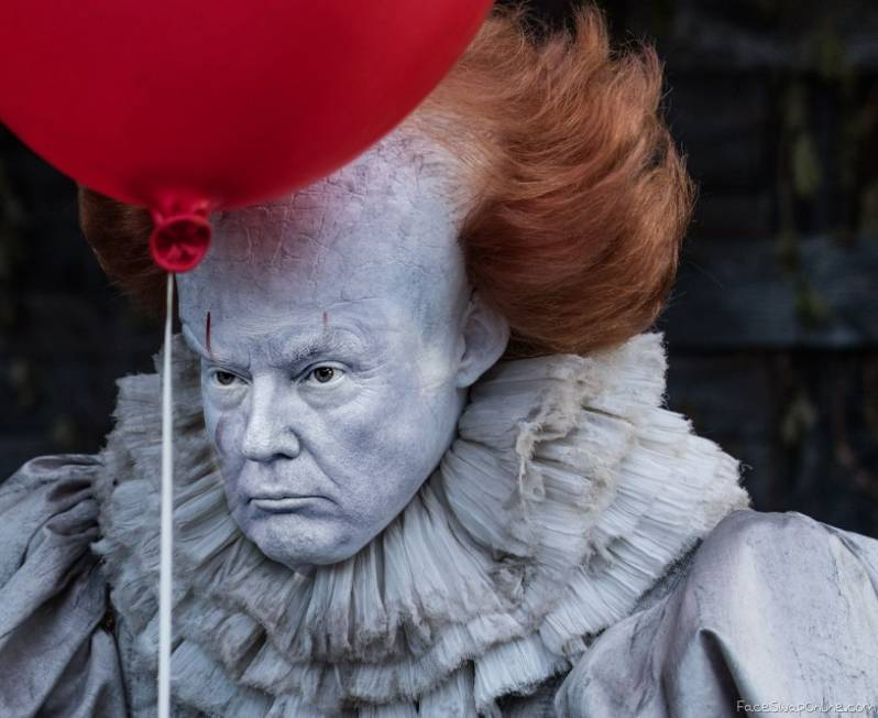 Pennywise Face Trump