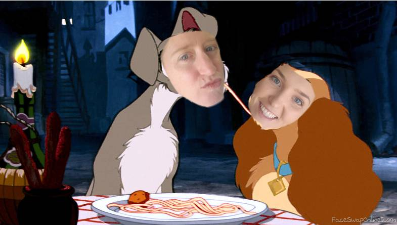 lady and the tramp- photoshop