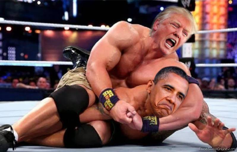 Royal Rumble Match - Donald Trump VS Obama