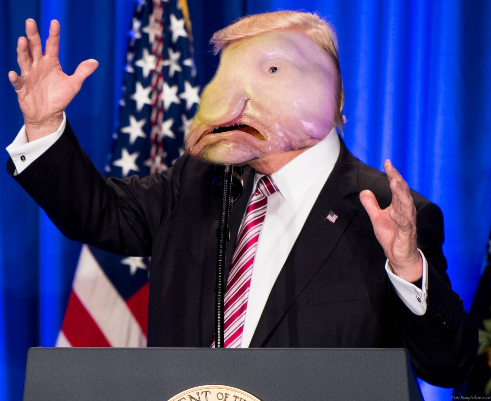 Blobfish Trump (no offence)
