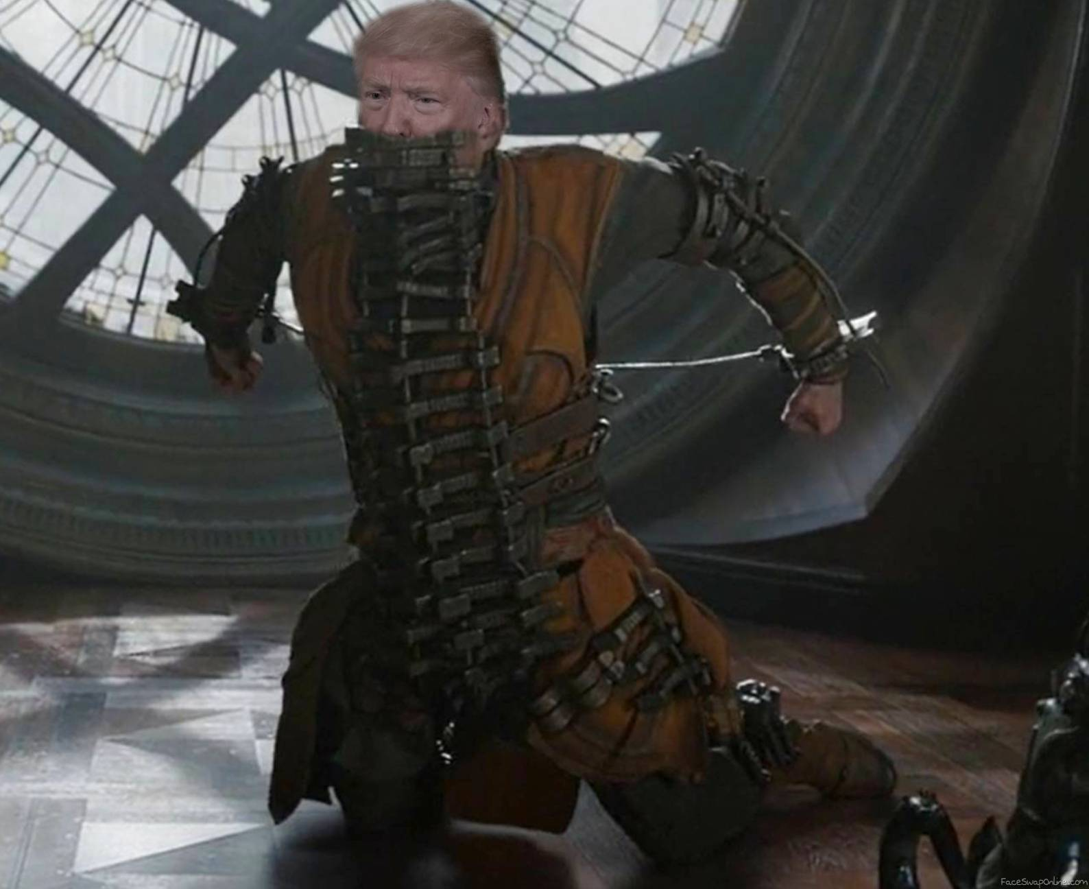 Donald Kaeclilius chained