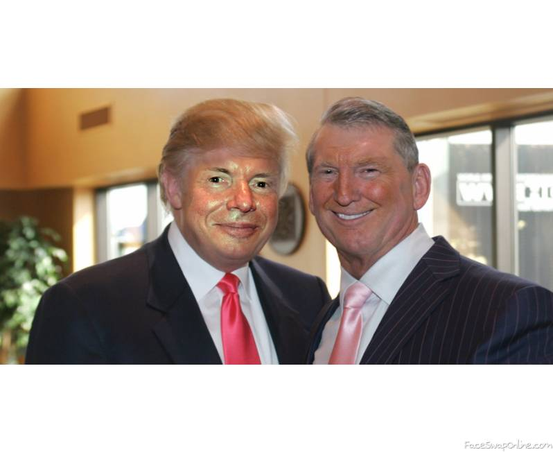 Donald Mctrump and Vince TrumpMahon