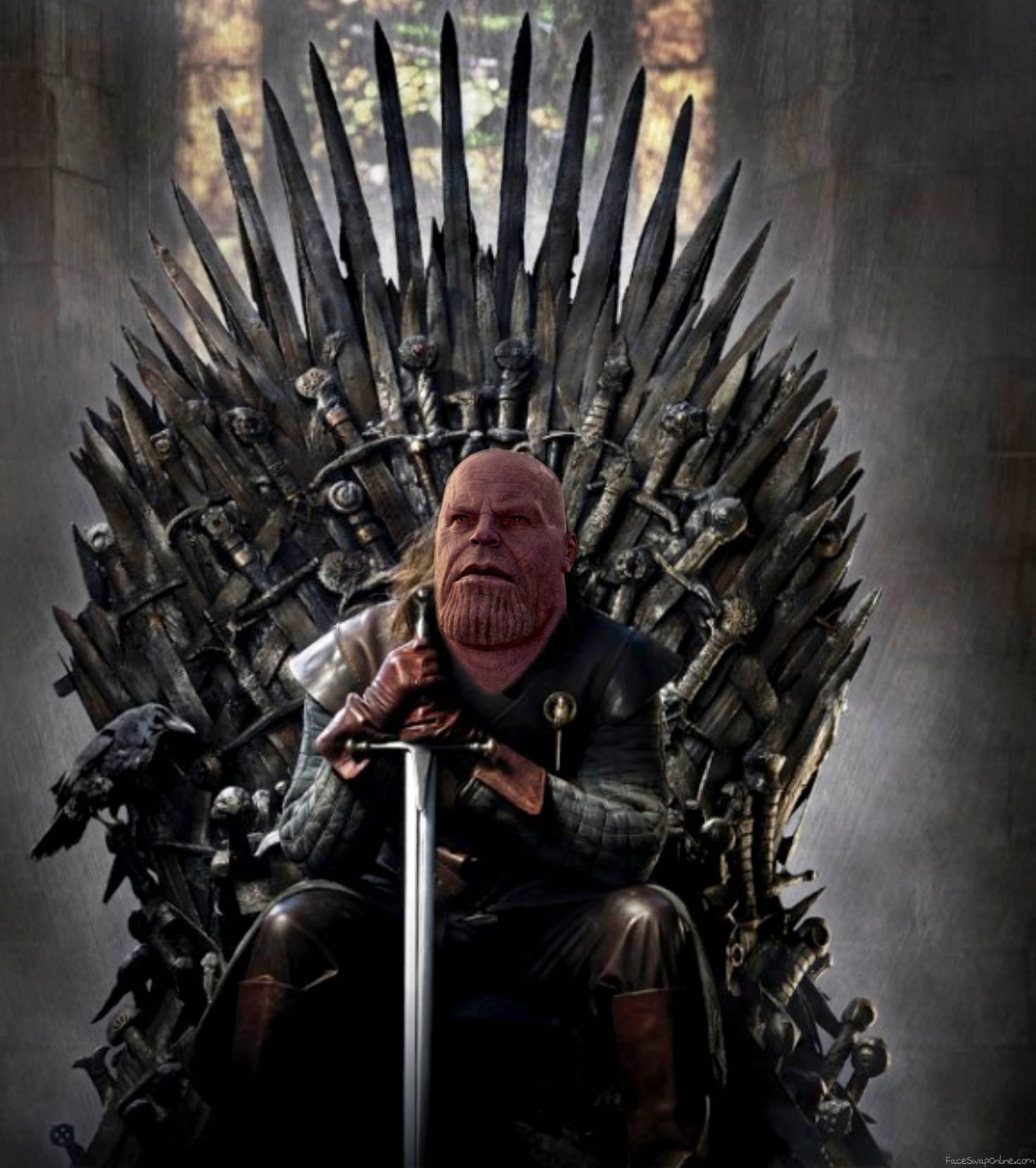 Thanos on the Iron throne