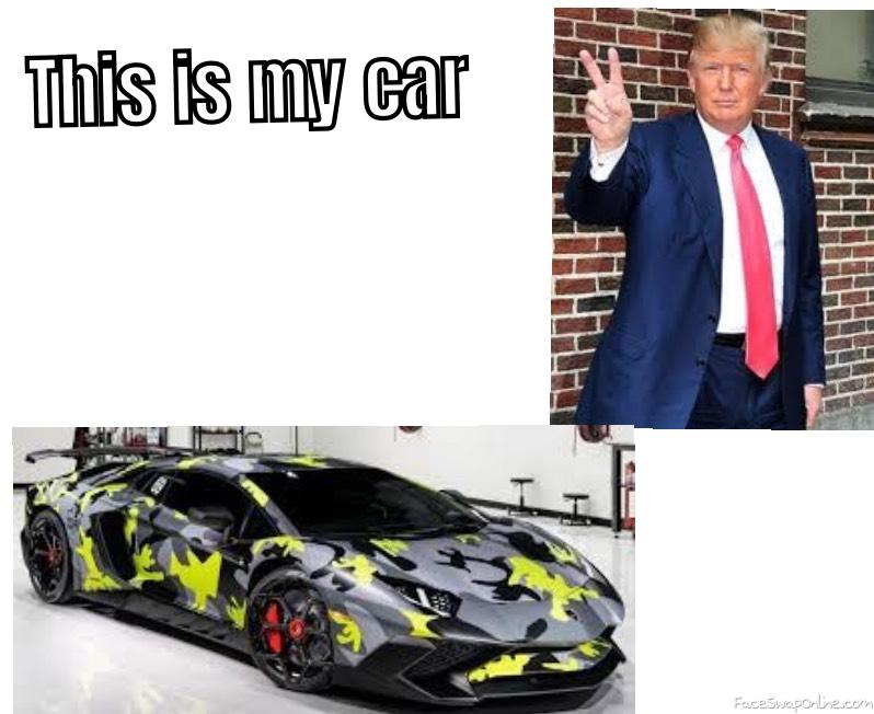 Trumps car