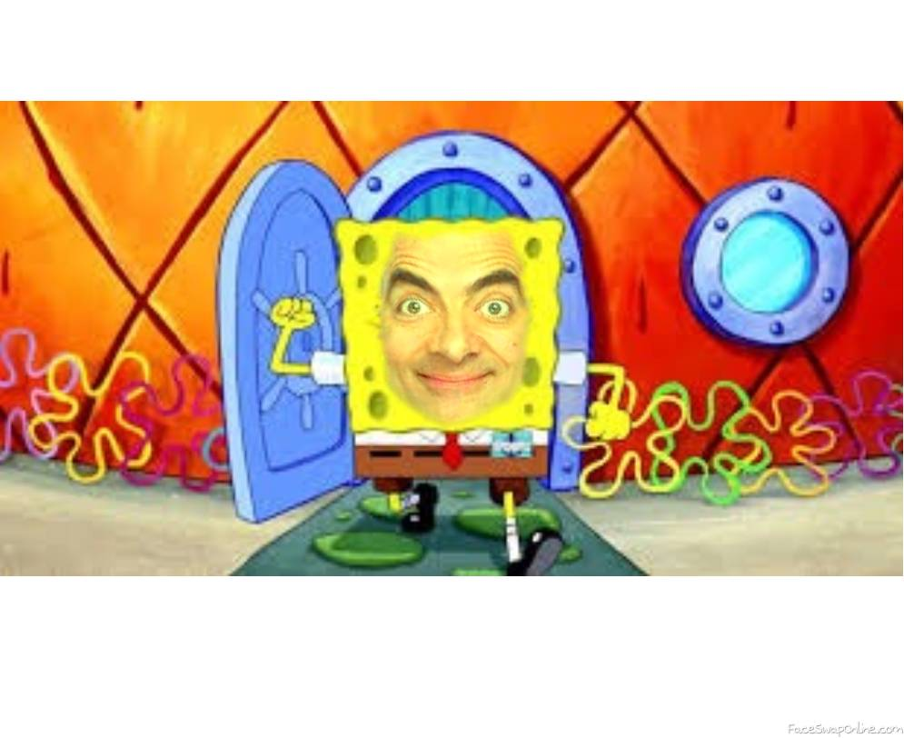mr. bean meets spongebob