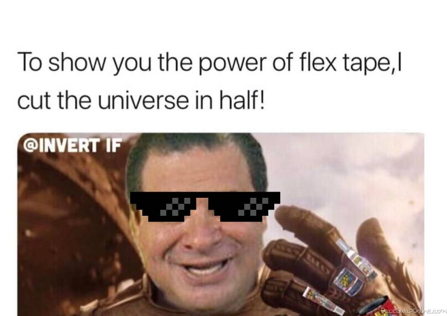 mlg flex tape thanos