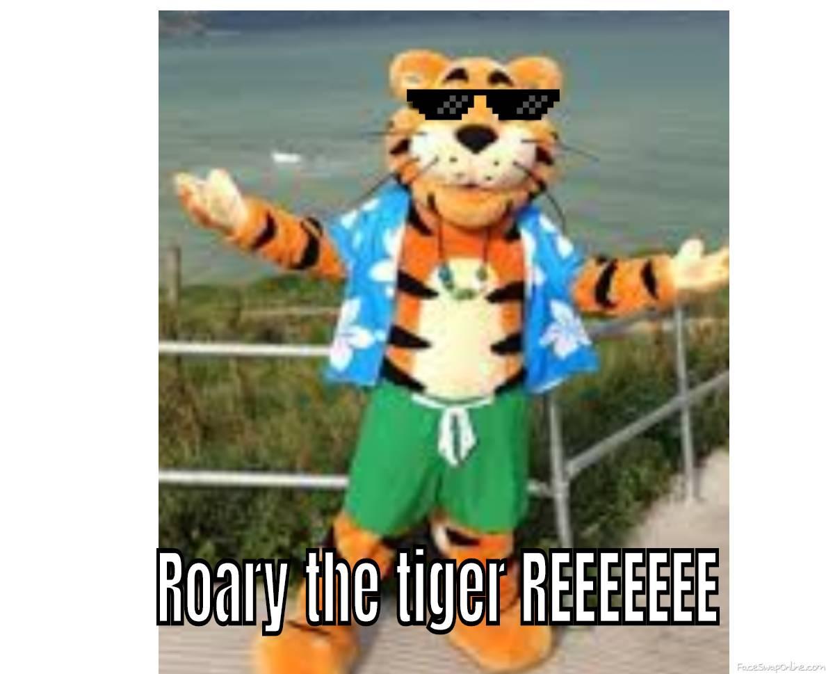 roary the tiger reeeee