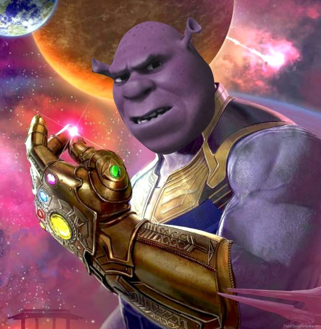Thanos Shrek snap