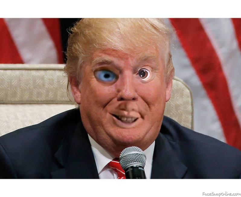 Crazy Trump Face