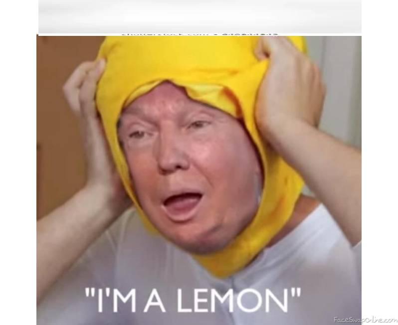 trumps a lemon
