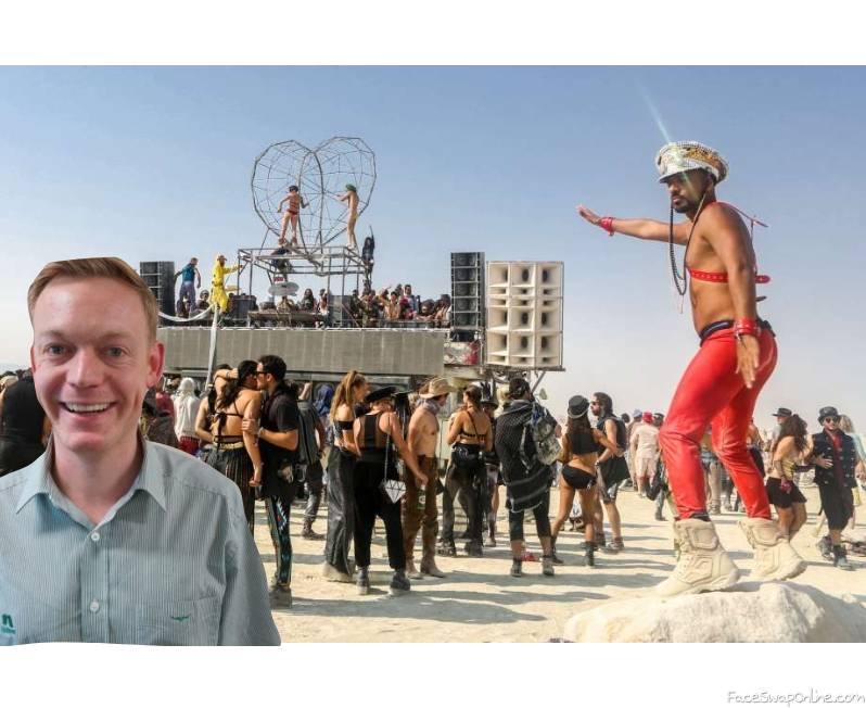 Hughesy at Burning Man