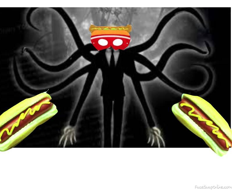Slender man likes Poisoned HOTDOGS