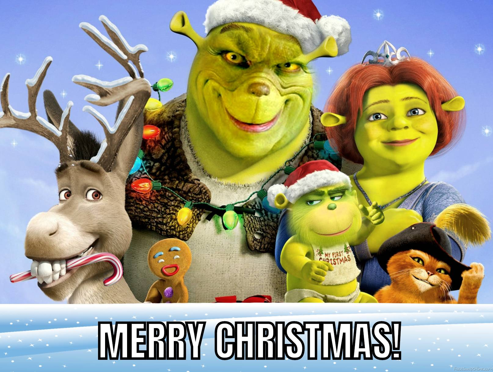 Shrek Holiday Card