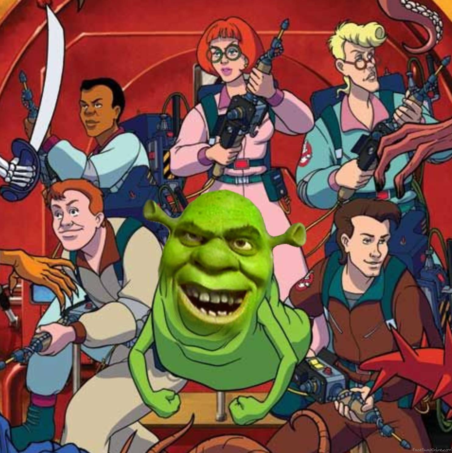 Slimer Shrek in Ghostbusters Afterlife
