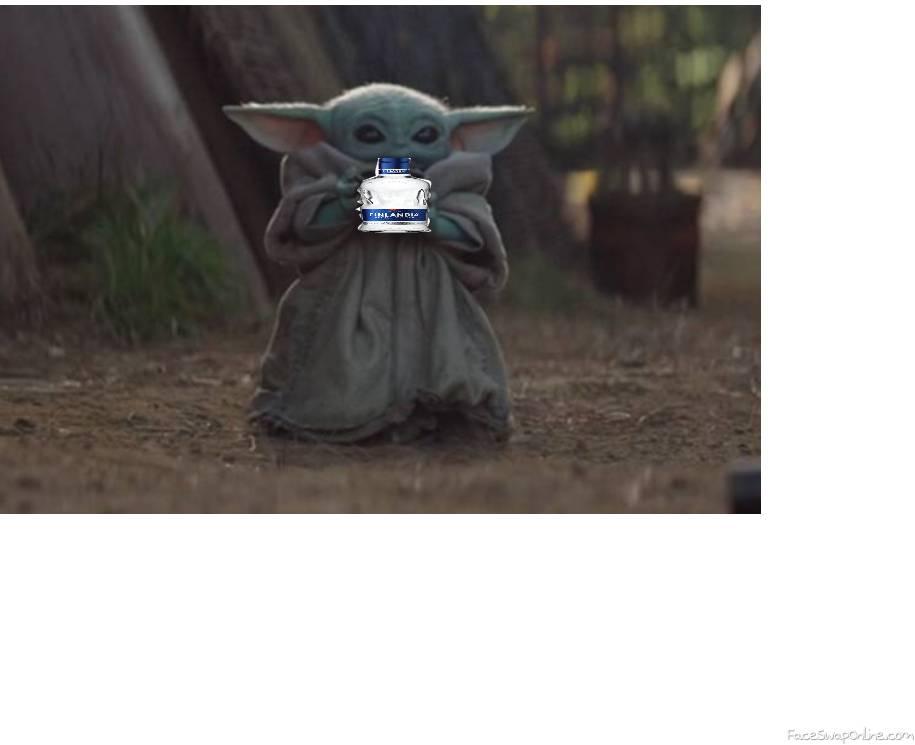 When you give baby Yoda a vodka bottle