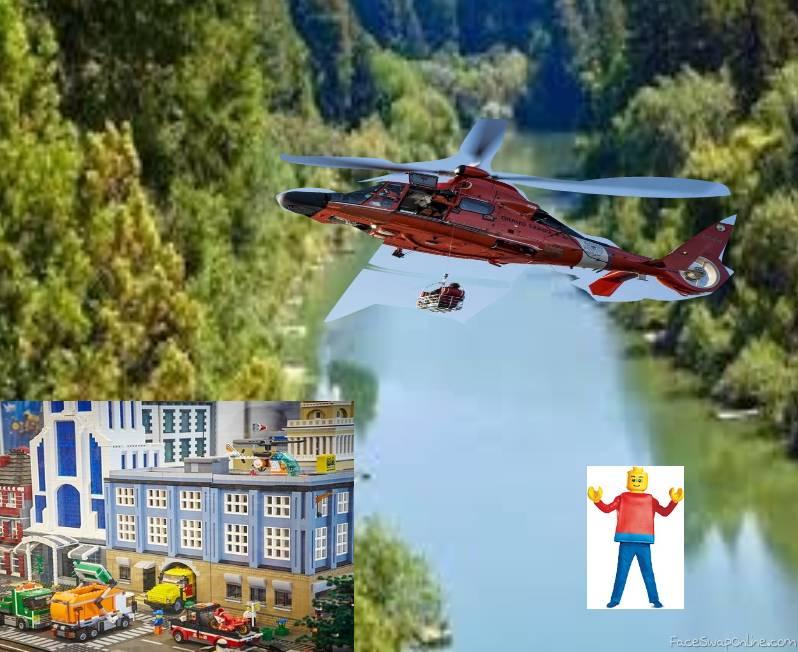 A MAN HAS FALLEN INTO THE RIVER IN LEGO CITY...