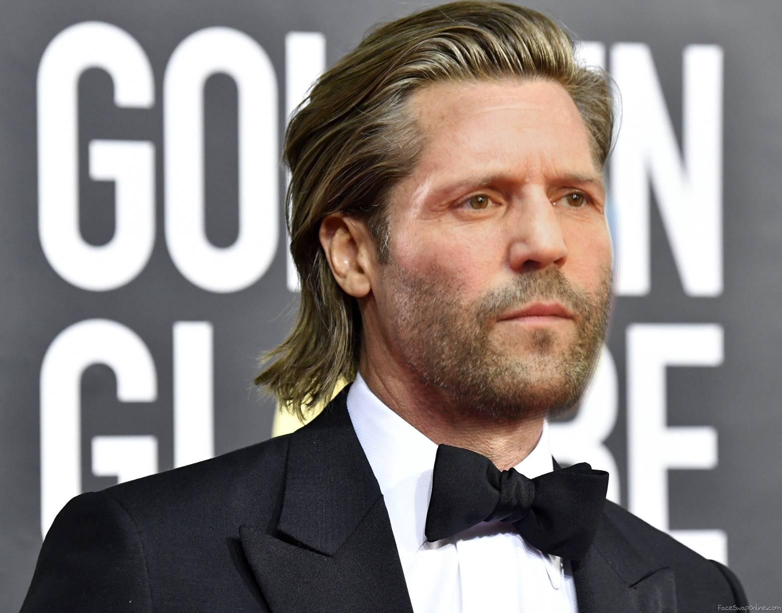 Jason Statham with hair (Brad Pitt's haircut)