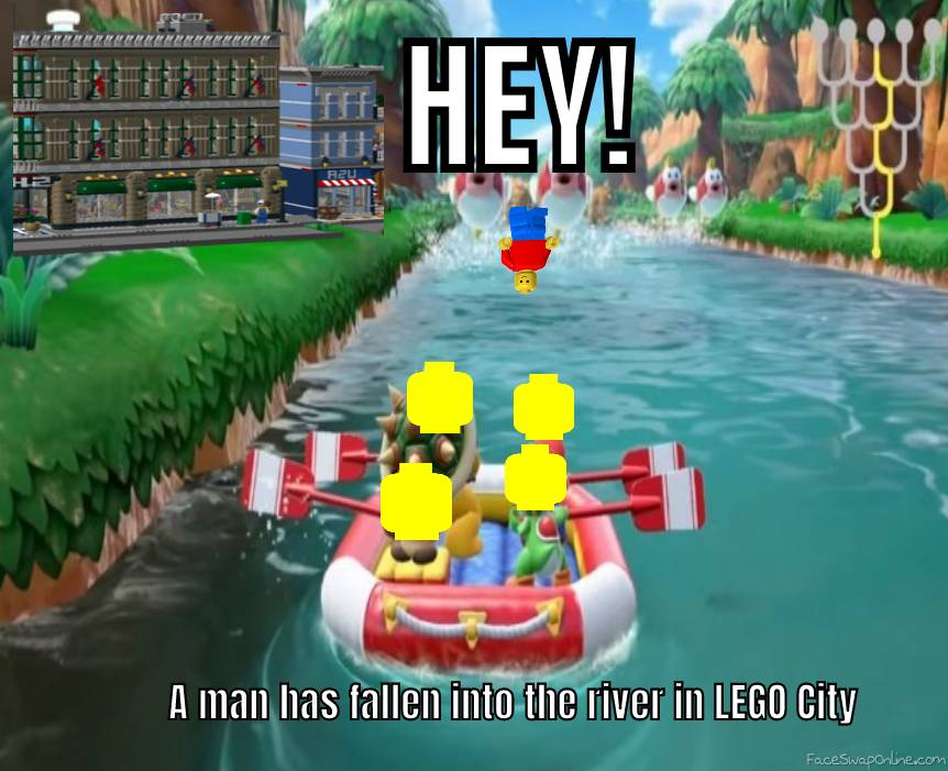 A Man Has Fallen into the River in LEGO City