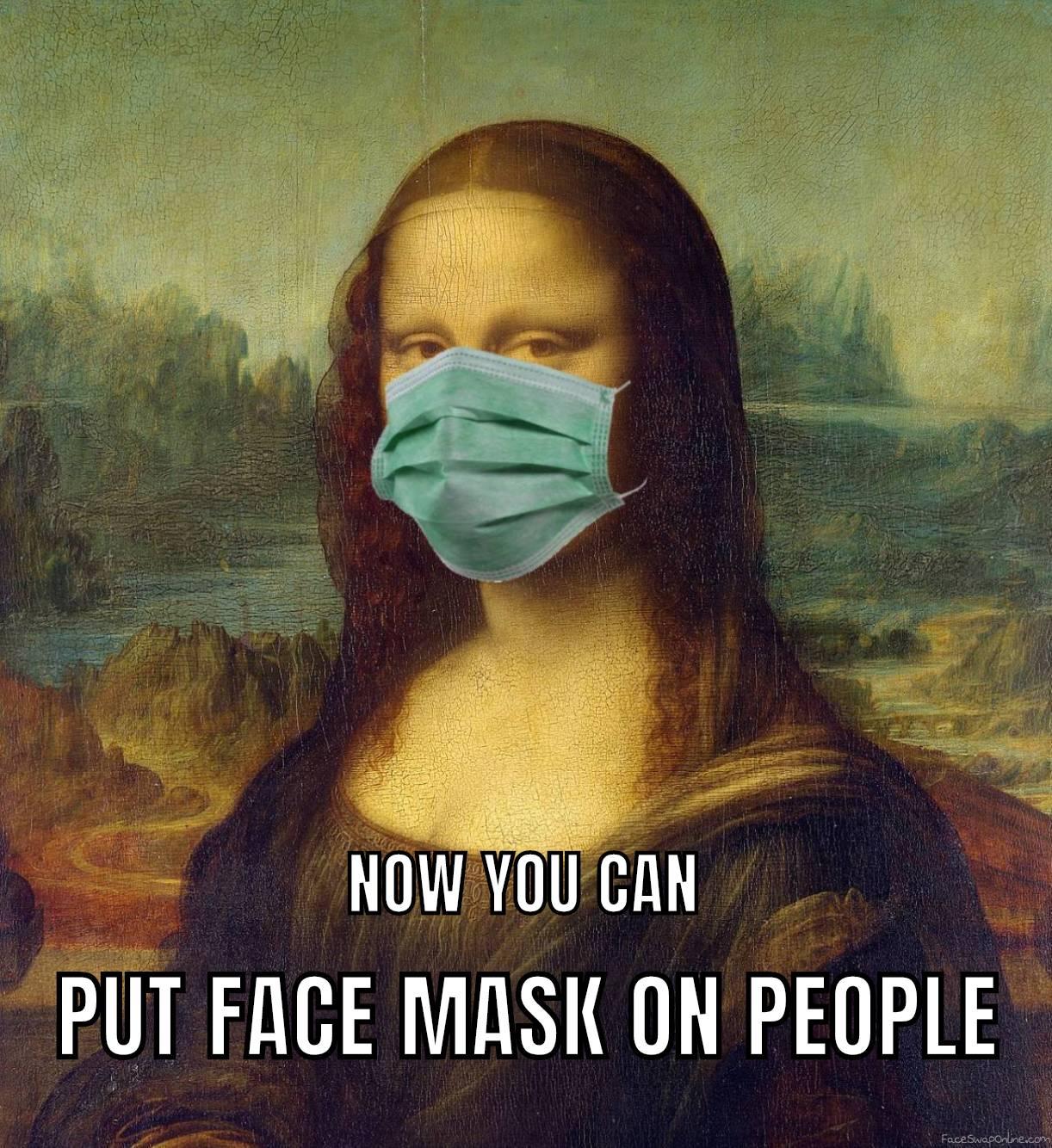 Put Face Mask on Photo