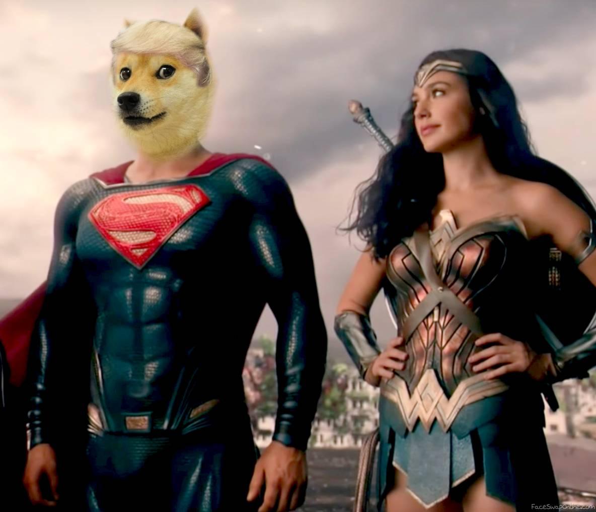 Superdoge and Wonder Woman