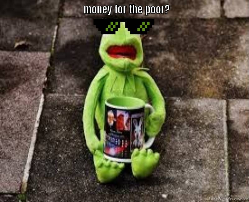 money for the poor
