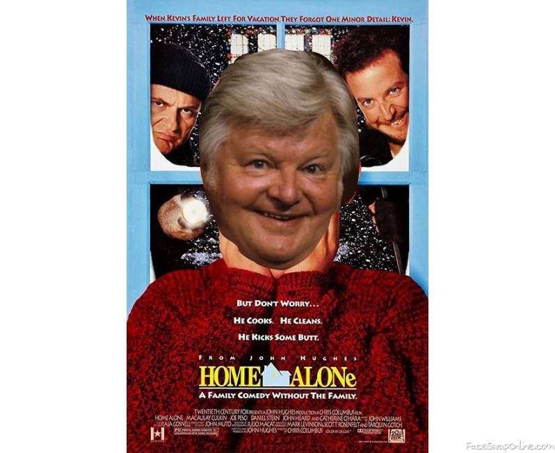 Benny Hill in Home Alone movie