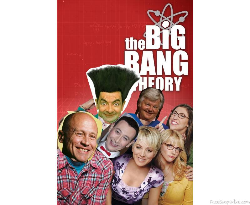 Mike Judge, Mr Bean, Pee Wee Herman, Benny Hill in the Big Bang Theory TV show