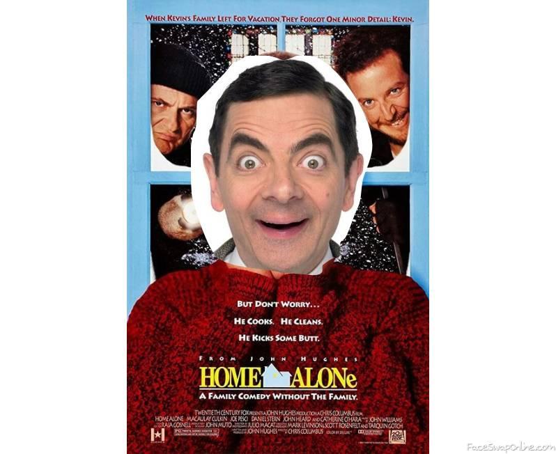 Mr Bean in Home Alone movie