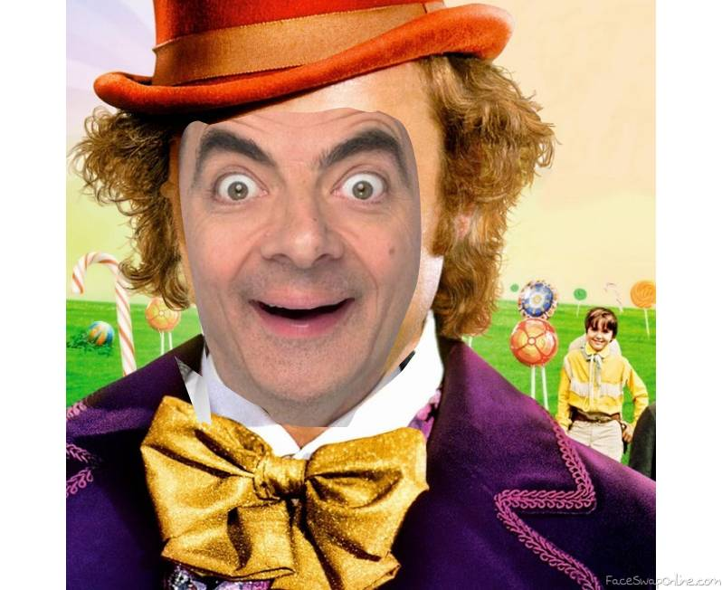 Mr Bean in Willy Wonka and the chocolate factory