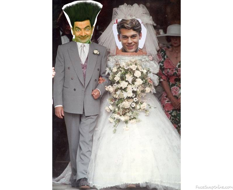 Mr Bean's wedding to Stephen James