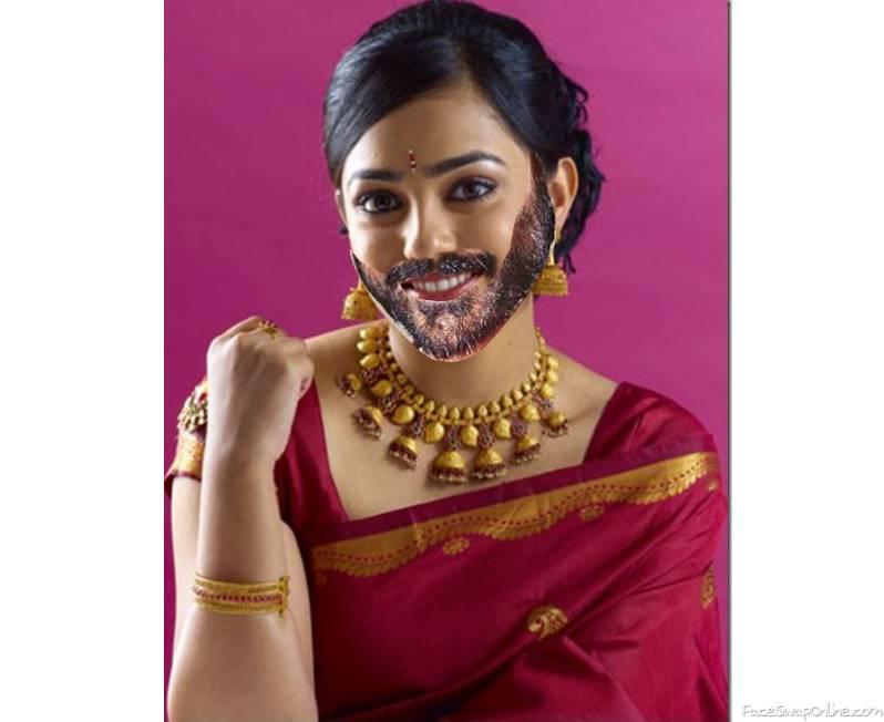 Nithya Menen Beard Swap
