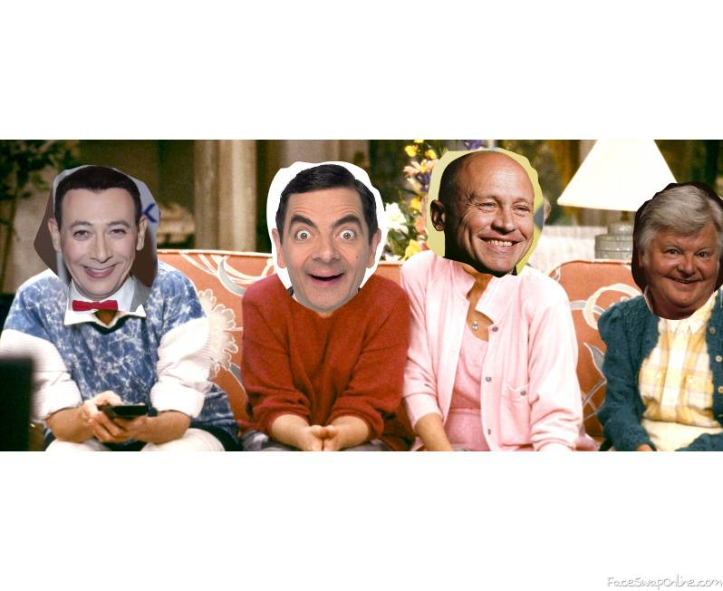 Pee Wee Herman, Mr Bean, Mike Judge, Benny Hill in the Golden Girls