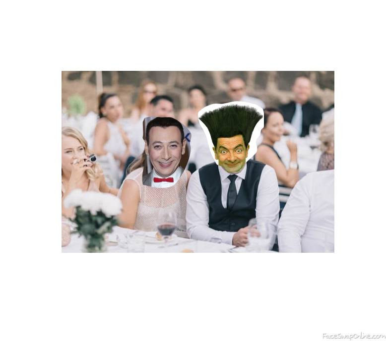 Pee Wee Herman and Mr Bean's wedding reception
