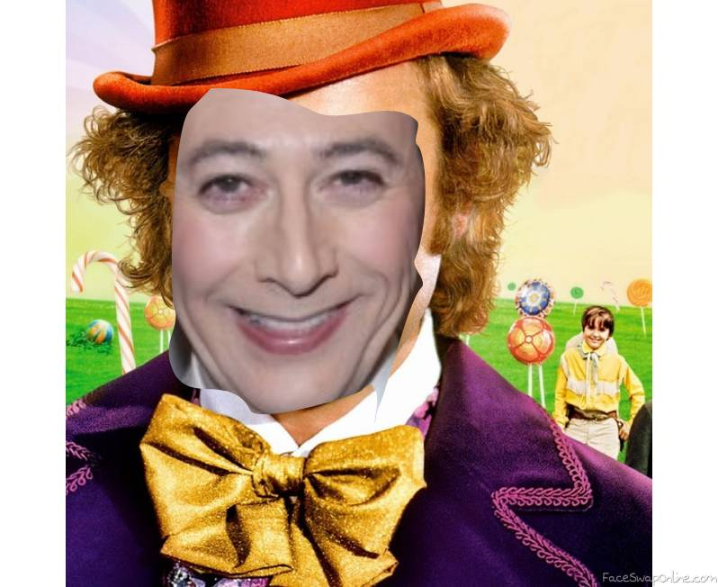 Pee Wee Herman in Willy Wonka and the chocolate factory