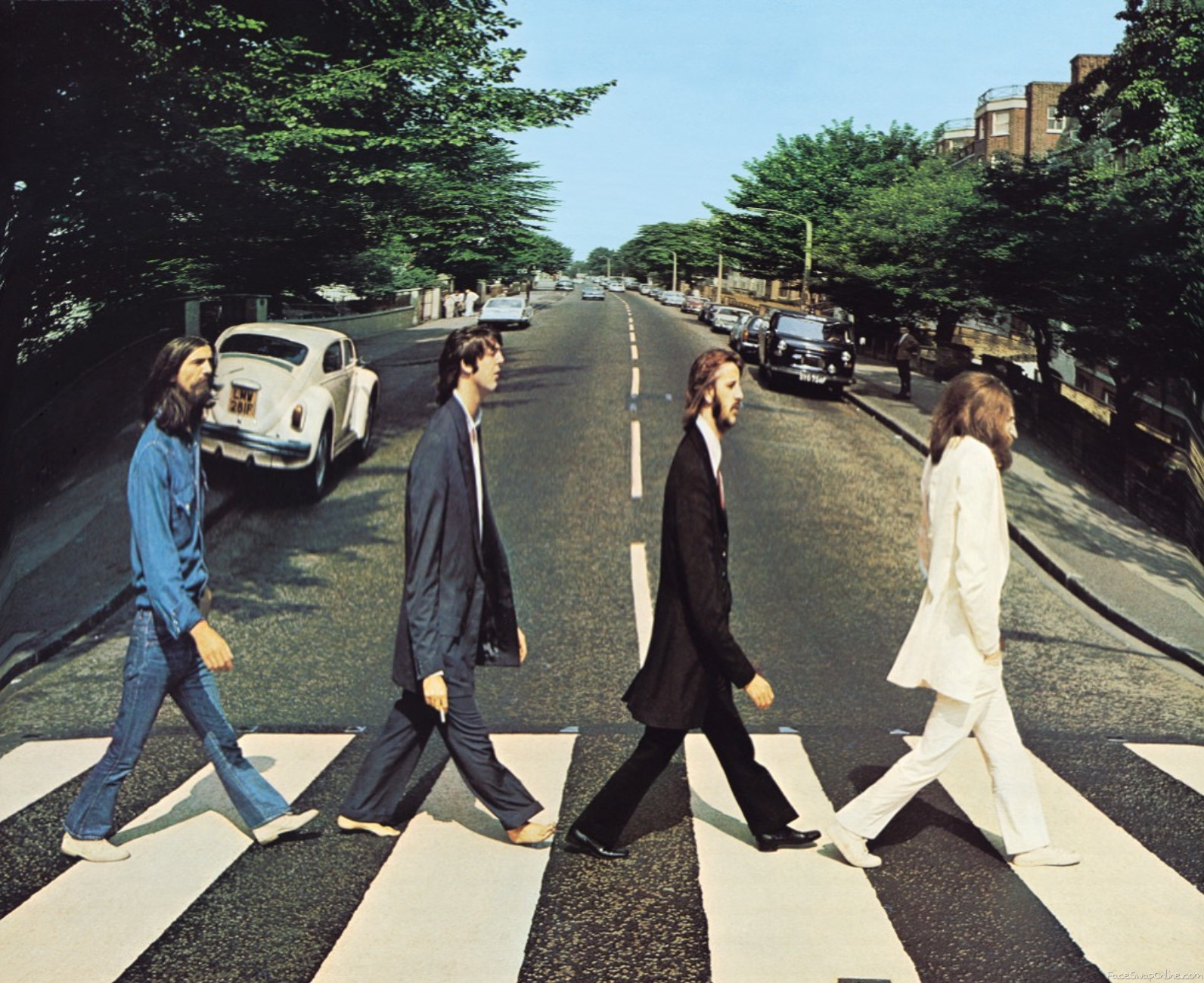 Abbey Lane but the Beatles are taller than before.