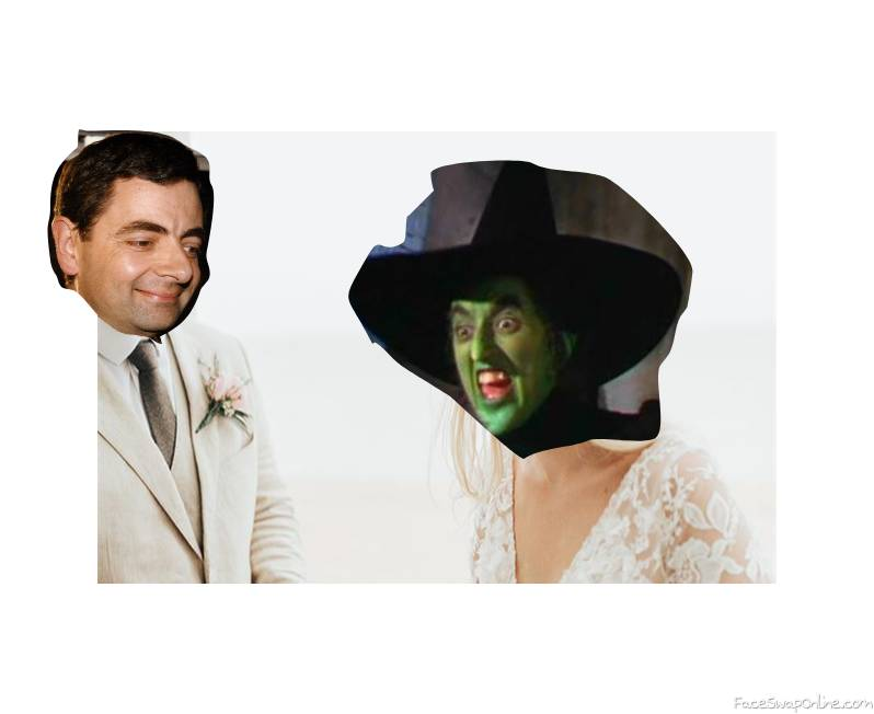Mr Bean and Wicked Witch of the West's wedding