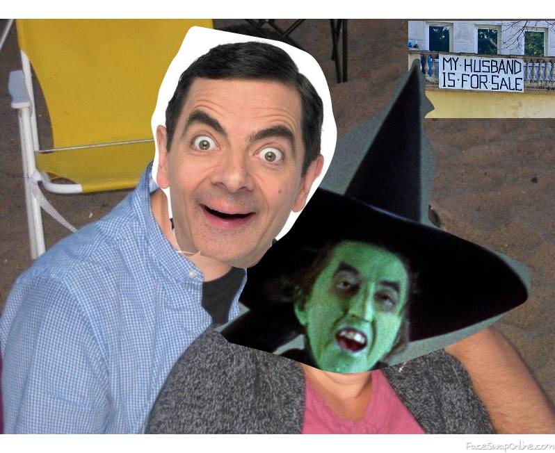 Mr Bean is hanging out with the Wicked Witch of the West